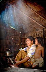 Mother and Child cooking their lunch in the kitchen
