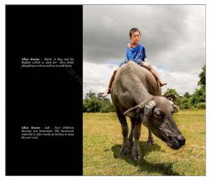 A boy and his buffalo