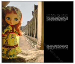 Ginger taking a breather at the famous Angkor Wat temple in Siem Reap