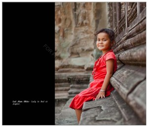 Lady in red at Angkow Wat