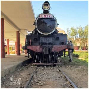 Steam Locomotive Engine, Dalat Railway Station, Vietnam
