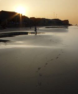 Footsteps in the sand, Long Hai Beach, Vietnam