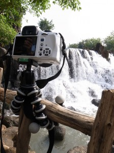 Here is Bruce teaming up with Gorilla for that waterfall shoot