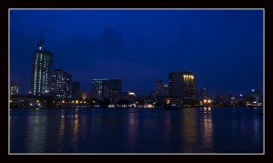 Night scene of Ho Chi Minh City, Vietnam (ISO64)