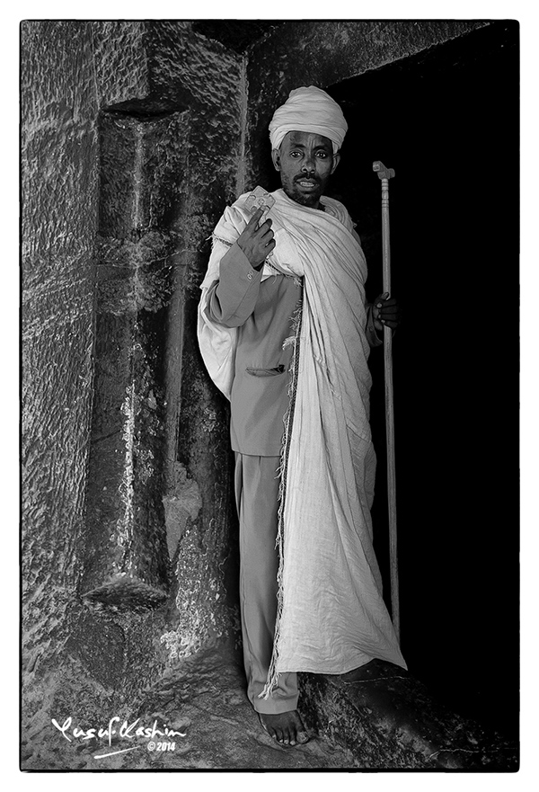 A Priest at one of the Rock Churches of Lalibela