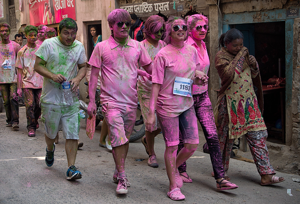 Color Run prior to the main Holi celebrations