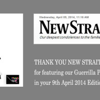 Guerrilla Photography Exhibition Coverage by New Straits Times – 9th April 2014