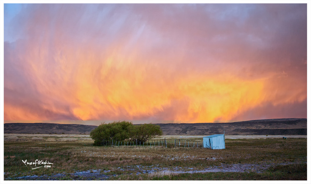 In Patagonia, when the Gods are angry, they burn the skies ......