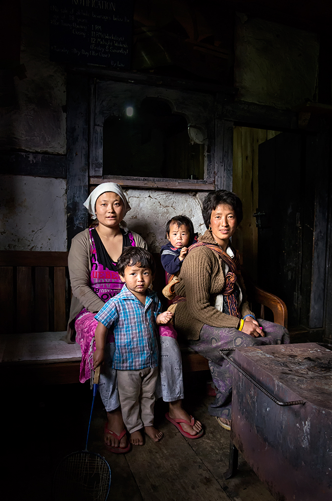 Friendly Bhutanese family.