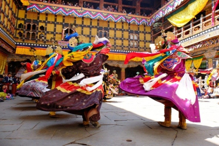 Mask Dance at Jakar Tsechu Festival