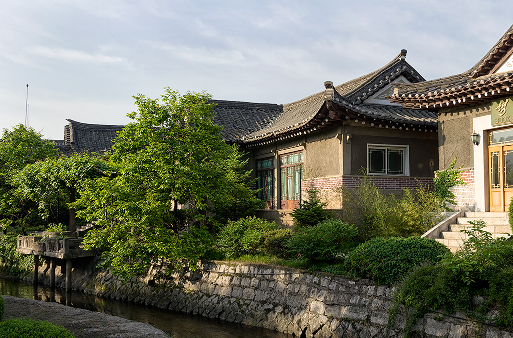 Kaesong Traditional Folk Hotel. This place used to be an ancient village.