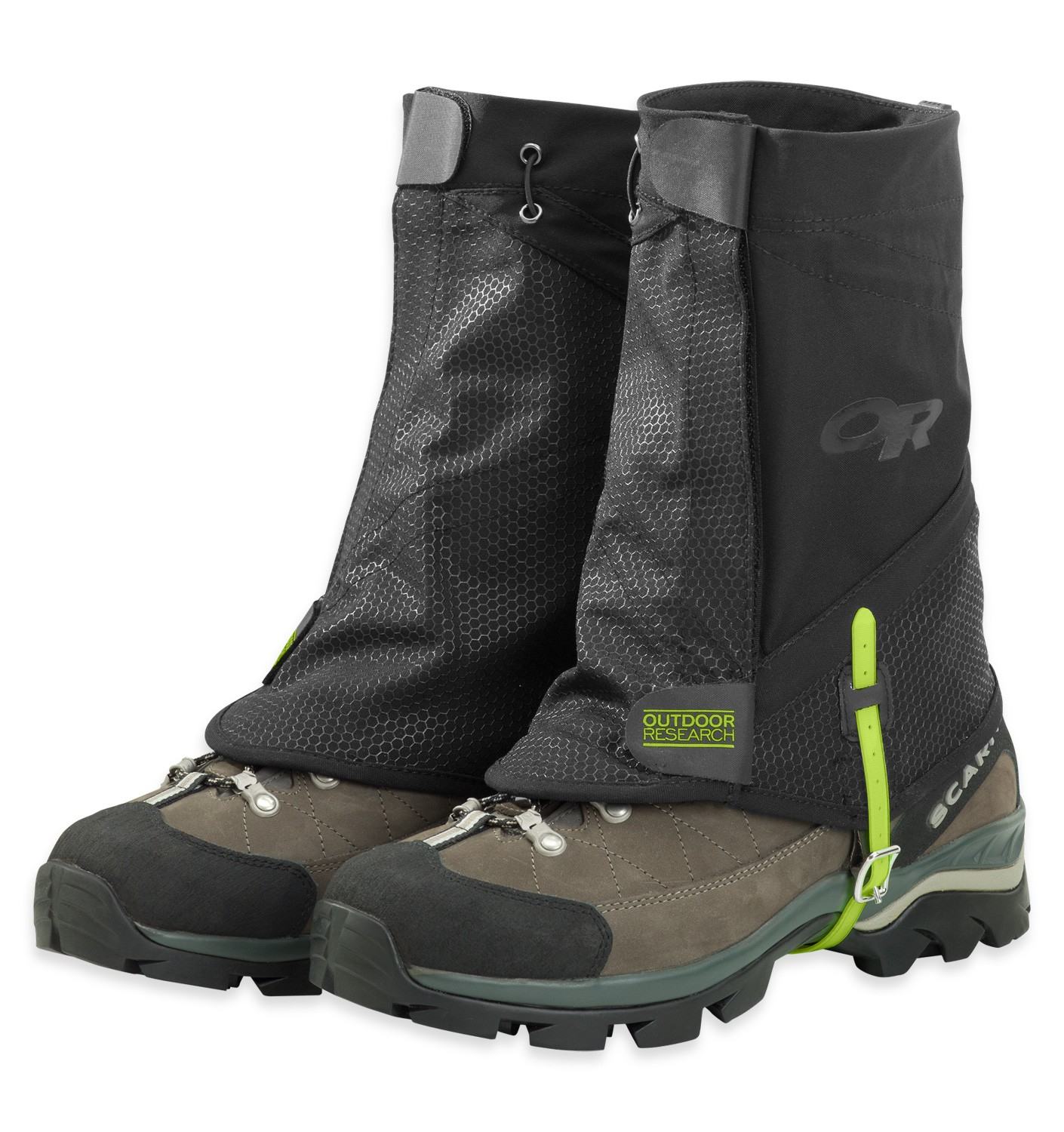 Gaiters to prevent snow from falling into the shoes.