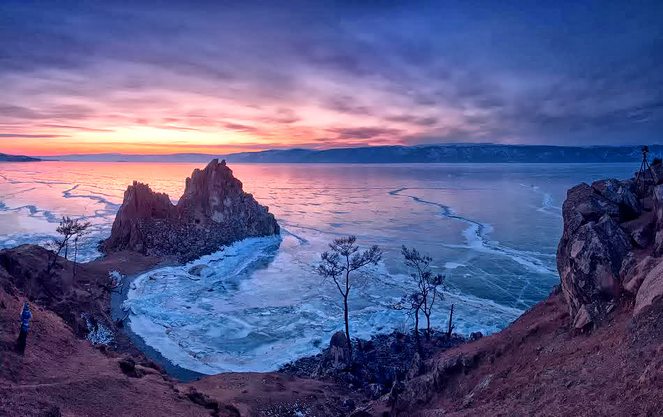 Lake Baikal at sunrise