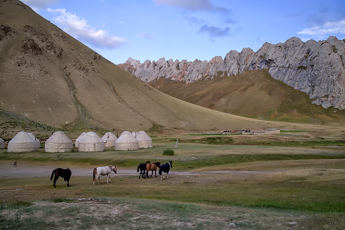 Beautiful Landscapes of Tian Shan Mountains.