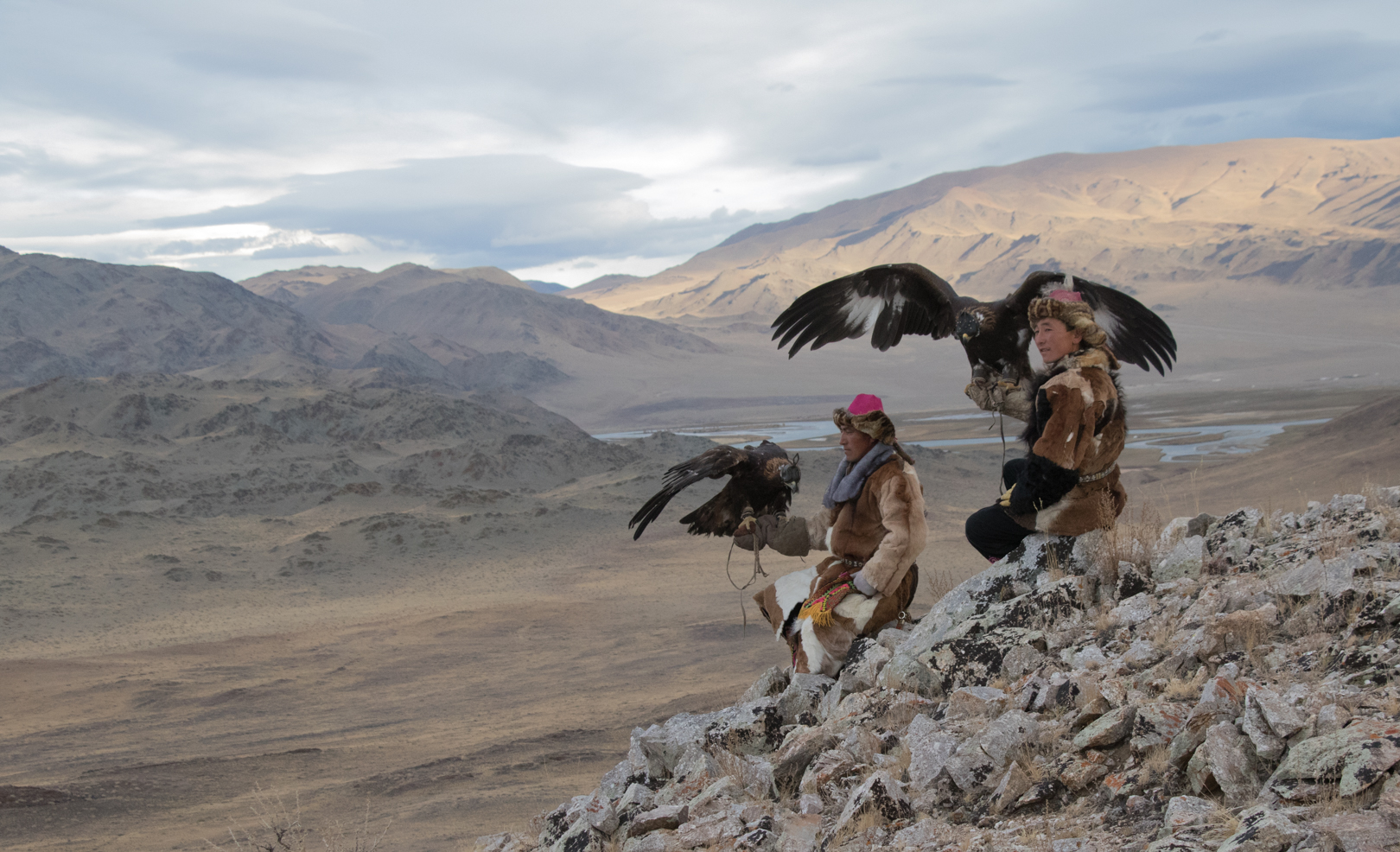 Eagle Hunters in the wilderness