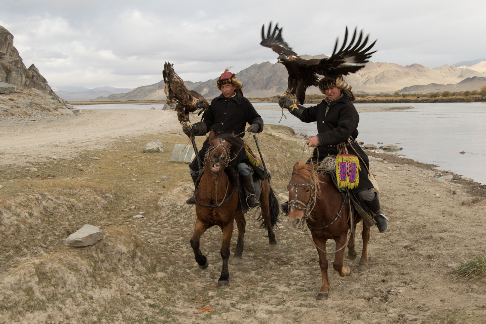 Eagle Hunters on horsebacks